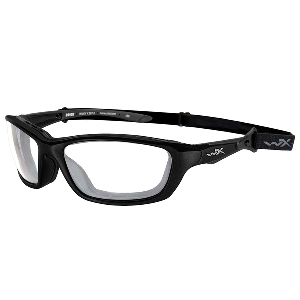Wiley X Brick Sunglasses - Clear Lens - Gloss Black Frame