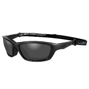 Wiley X Brick Black Ops Sunglasses - Smoke Grey Lens - Matte Black Frame