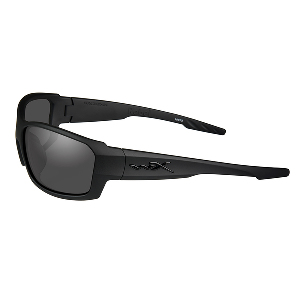Wiley X Rebel Black Ops Sunglasses - Smoke Grey Lens - Matte Black Frame
