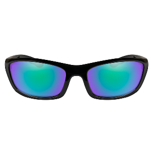Wiley X P-17 Polarized Sunglasses - Emerald Mirror Lens - Gloss Black Frame