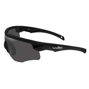 Wiley X Rogue Sunglasses - Grey/Clear/Rust Lens - Matte Black Frame w/Rx Insert