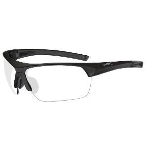 Wiley X Guard Advanced Sunglasses - Smoke Grey/Clear Lens - Matte Black Frame