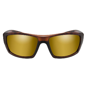 Wiley X Kobe Sunglasses - Polarized Venice Gold Mirror Lens - Gloss Hickory Brown Frame