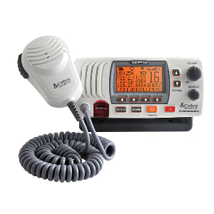 Cobra MR F77W Fixed Mount Class D VHF Radio - 25W - White