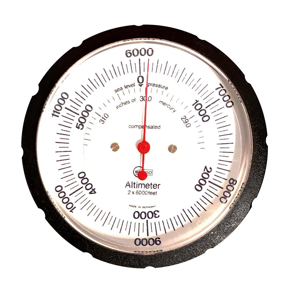 BARIGO Handheld Altimeter w/Case - 6,000M Standard Dial