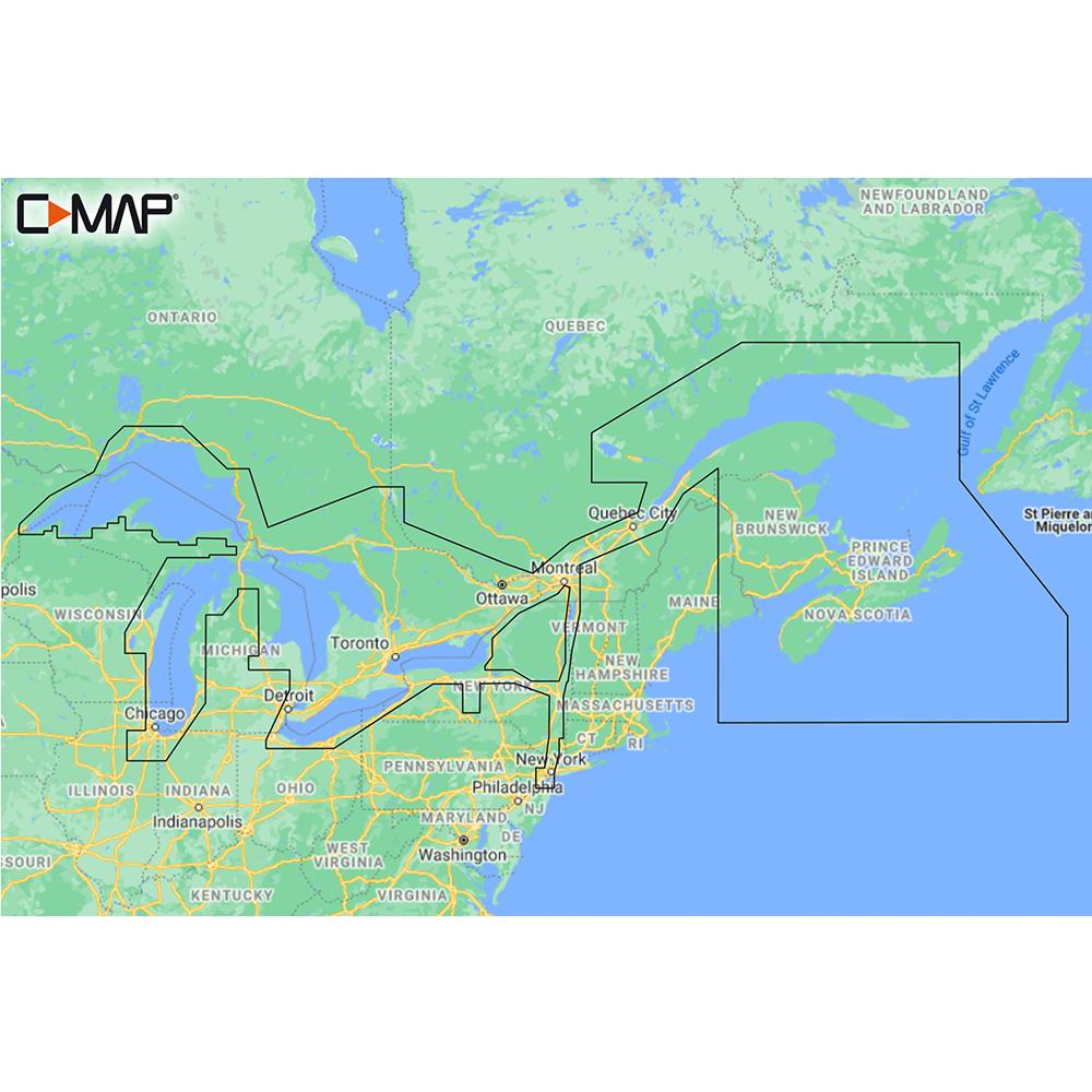 C-MAP M-NA-Y201-MS Great Lakes To Nova Scotia REVEAL™ Coastal Chart