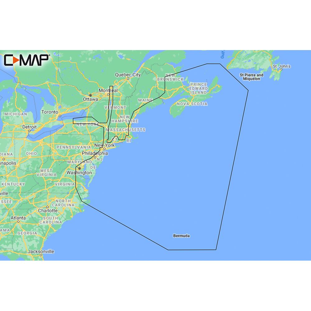 C-MAP M-NA-Y202-MS Nova Scotia to Chesapeake Bay REVEAL™ Coastal Chart