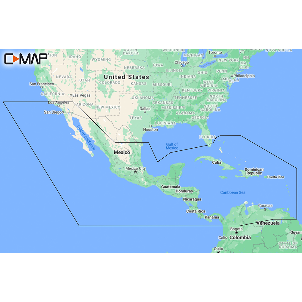 C-MAP M-NA-Y205-MS Central America & Caribbean REVEAL™ Coastal Chart