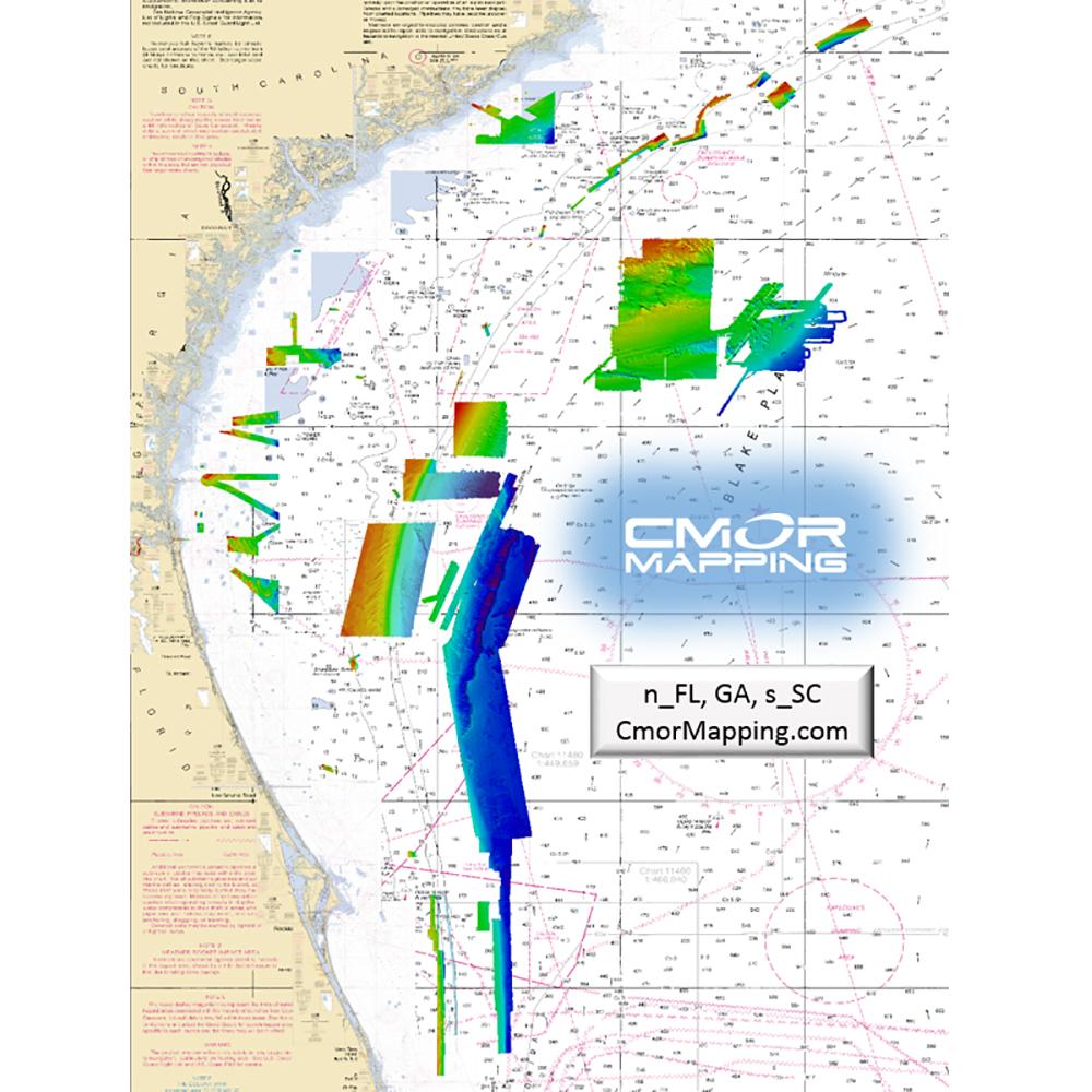 CMOR Mapping North Florida, Georgia & South Carolina f/Simrad, Lowrance, B&G & Mercury