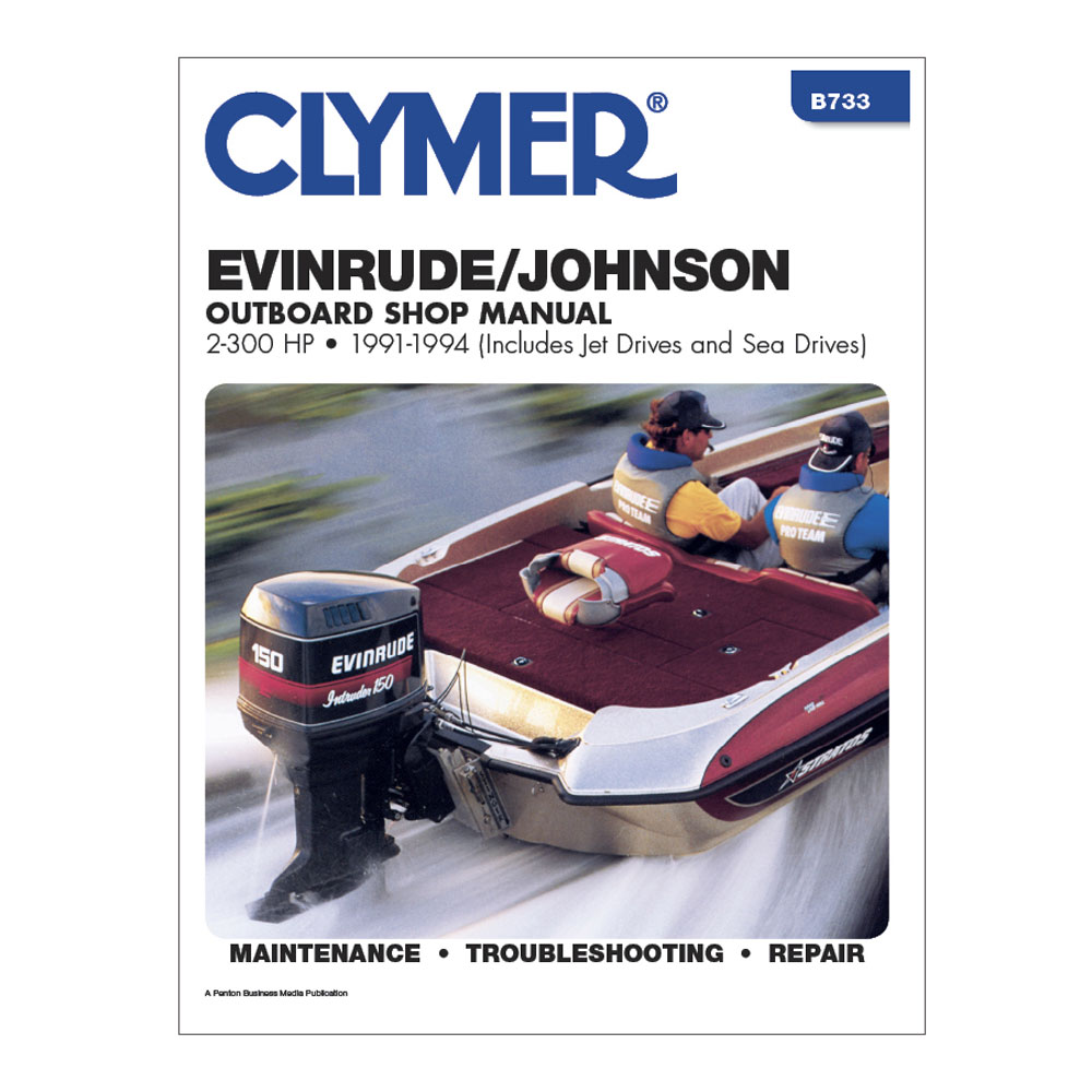 Clymer Evinrude/Johnson 2-300 HP Outboards (Includes Jet Drives and