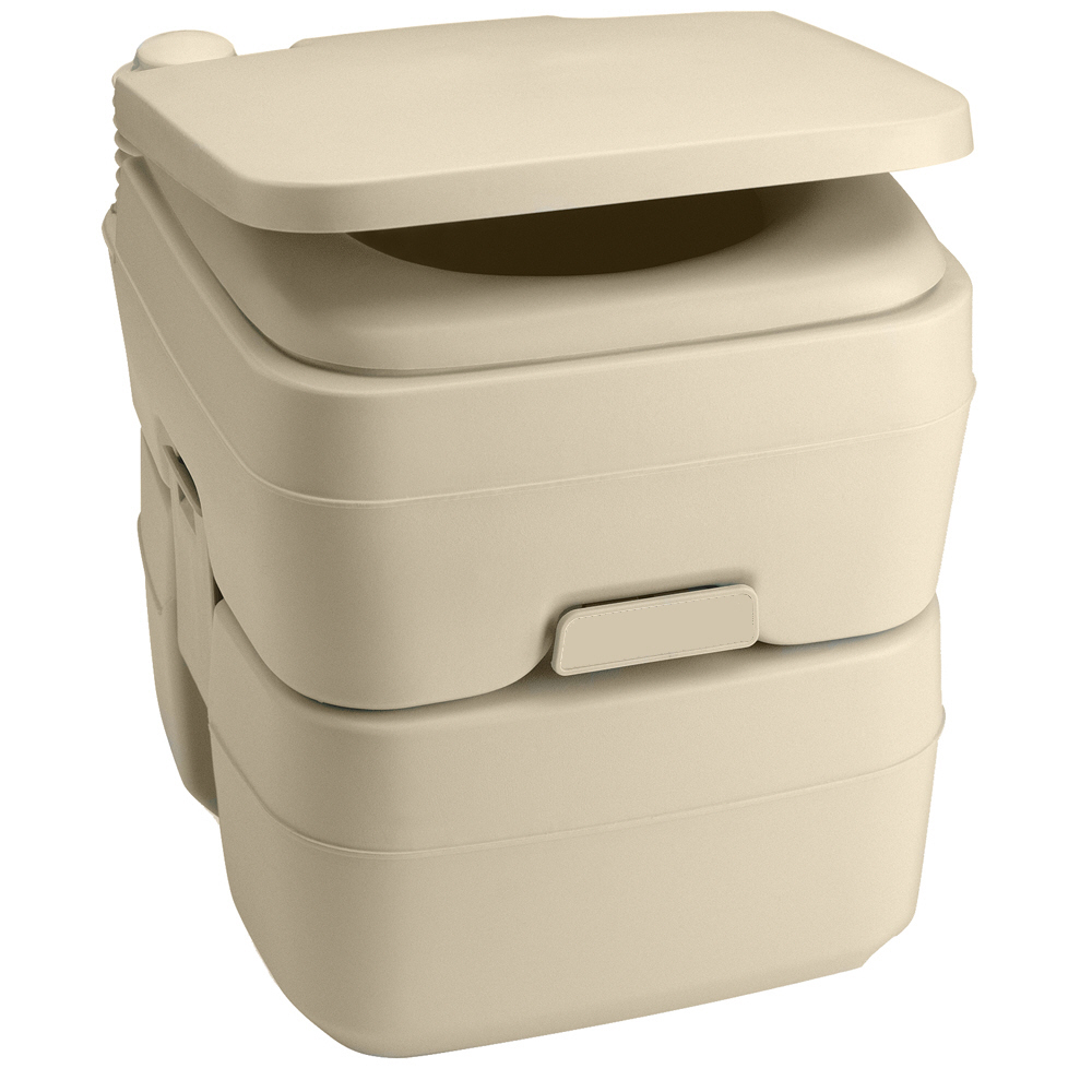 Dometic - 965 MSD Portable Toilet 5.0 Gallon Parchment