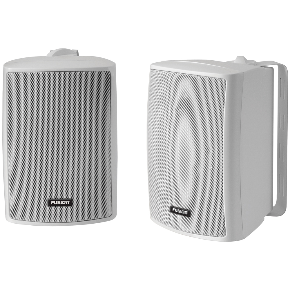 "FUSION 4"" Compact Marine Box Speakers - (Pair) White"