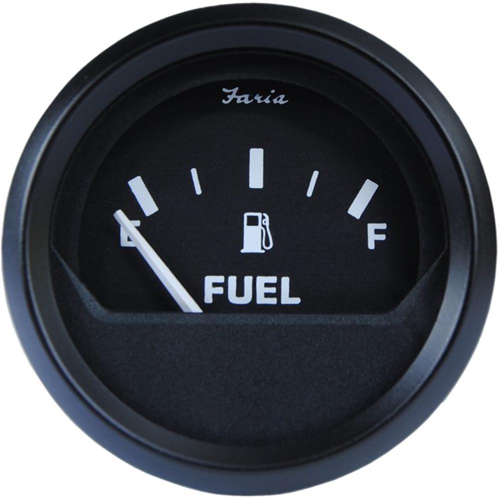 "Faria Euro Black 2"" Fuel Level Gauge (E-1/2-F)"