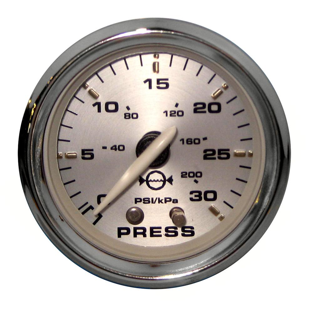 "Faria Kronos 2"" Water Pressure Gauge Kit - 30 PSI"