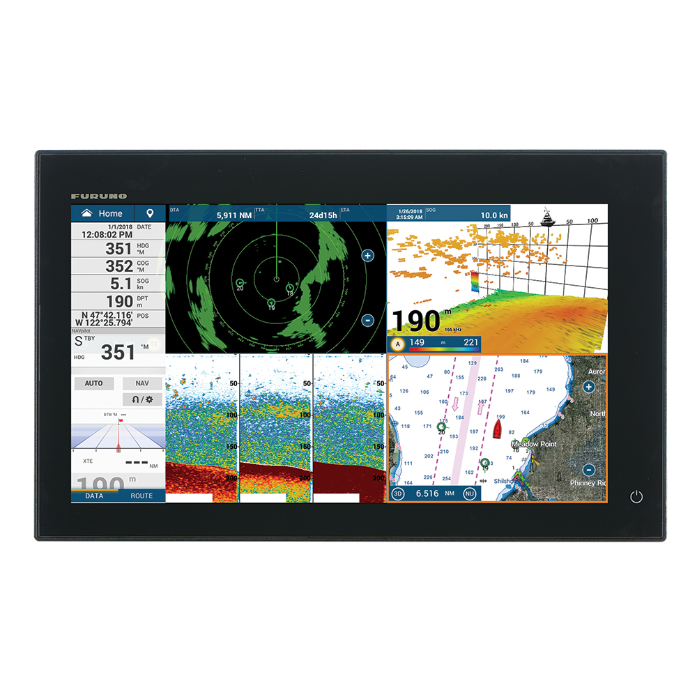 """Furuno NavNet TZtouch3 16"""" MFD w/1kW Dual Channel CHIRP™ Sounder & Internal GPS"""