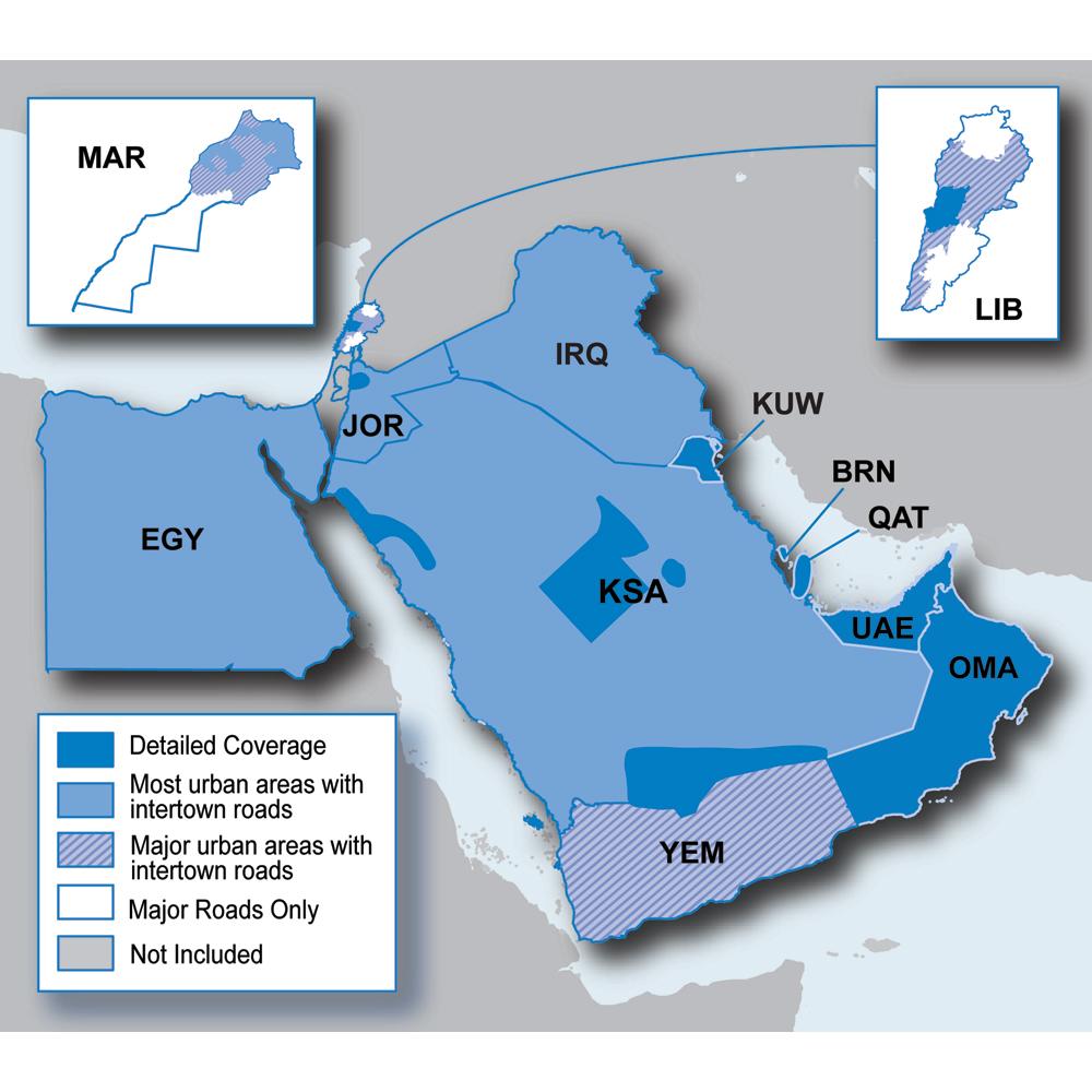 Garmin City Navigator® - Middle East & Northern Africa NT - microSD™/SD™