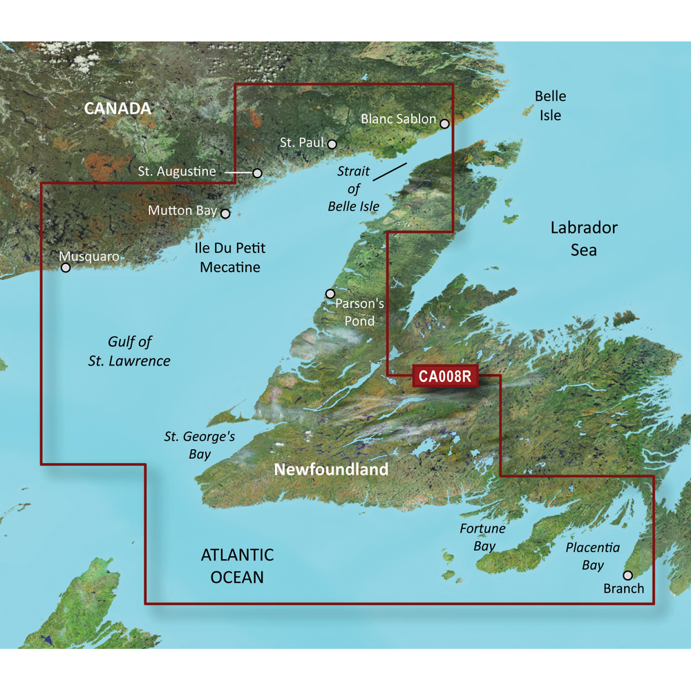 Garmin BlueChart® g3 Vision® HD - VCA008R - Newfoundland West - microSD™/SD™