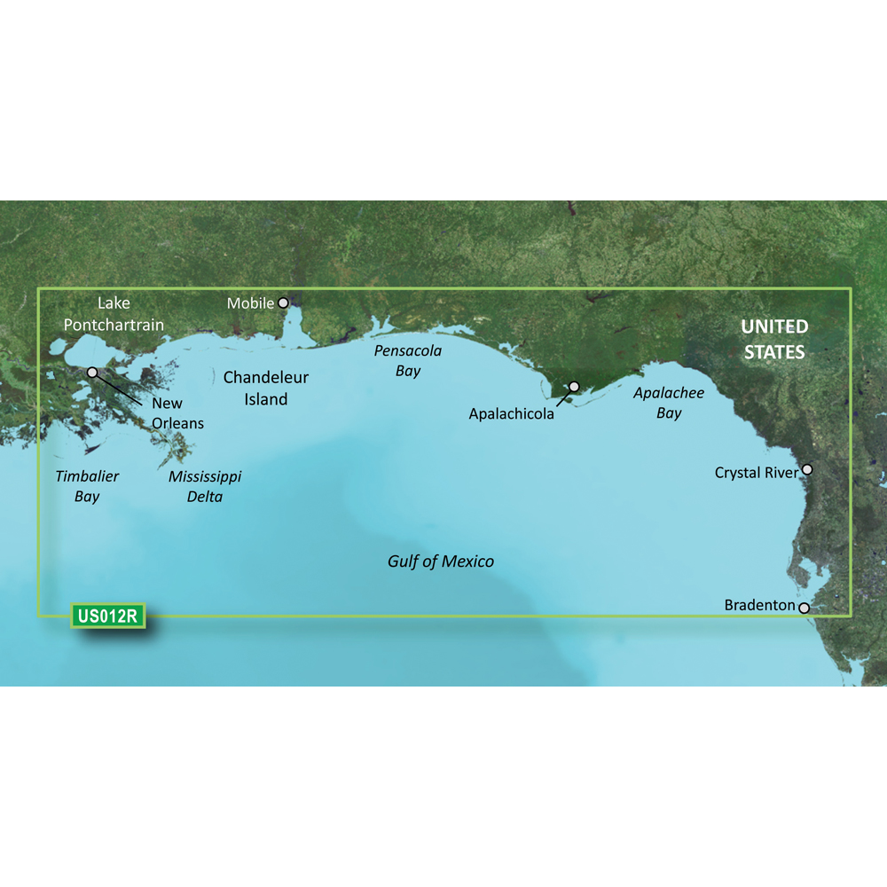 Garmin BlueChart® g3 Vision® HD - VUS012R - Tampa - New Orleans - microSD™/SD™
