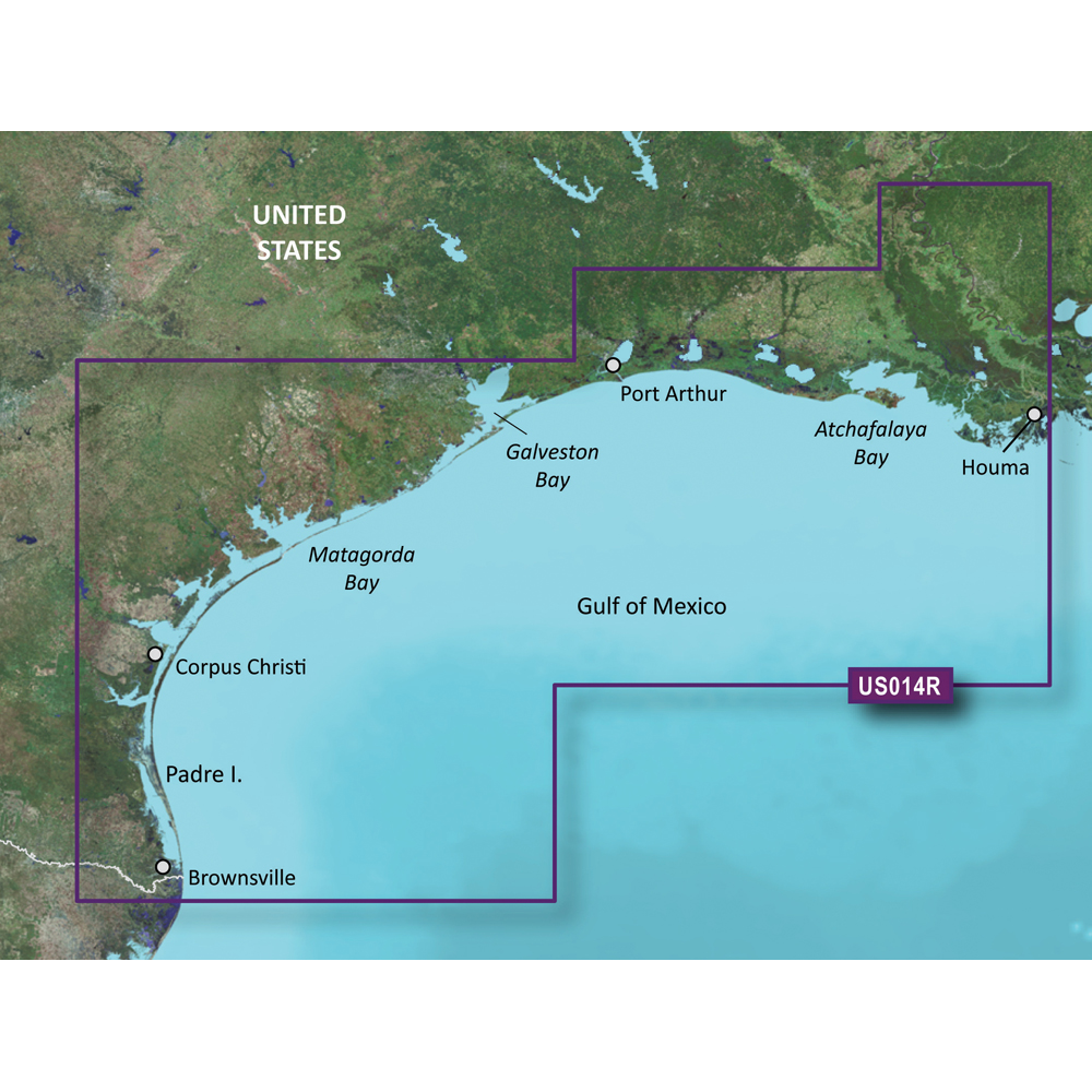 Garmin BlueChart® g3 Vision® HD - VUS014R - Morgan City to Brownsville - microSD™/SD™
