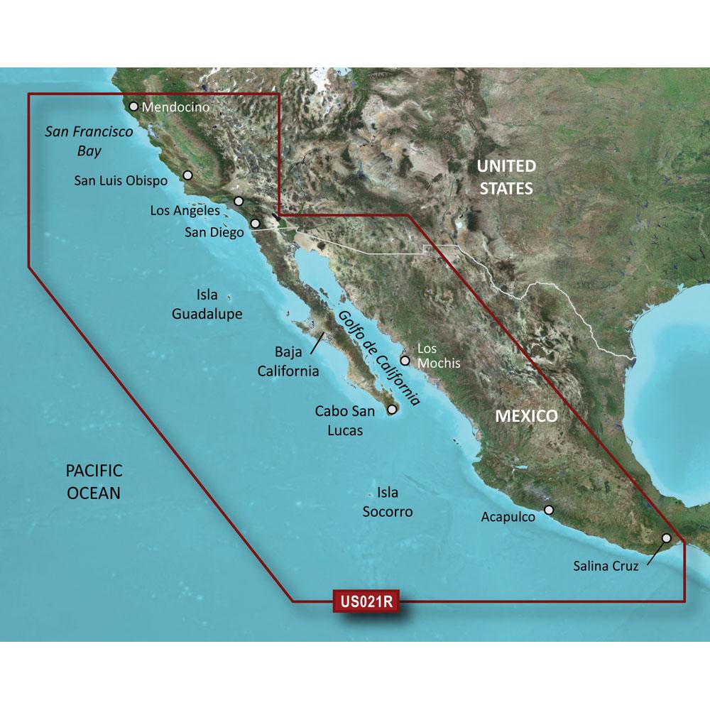 Garmin BlueChart® g2 HD - HXUS021R - California - Mexico - microSD™/SD™
