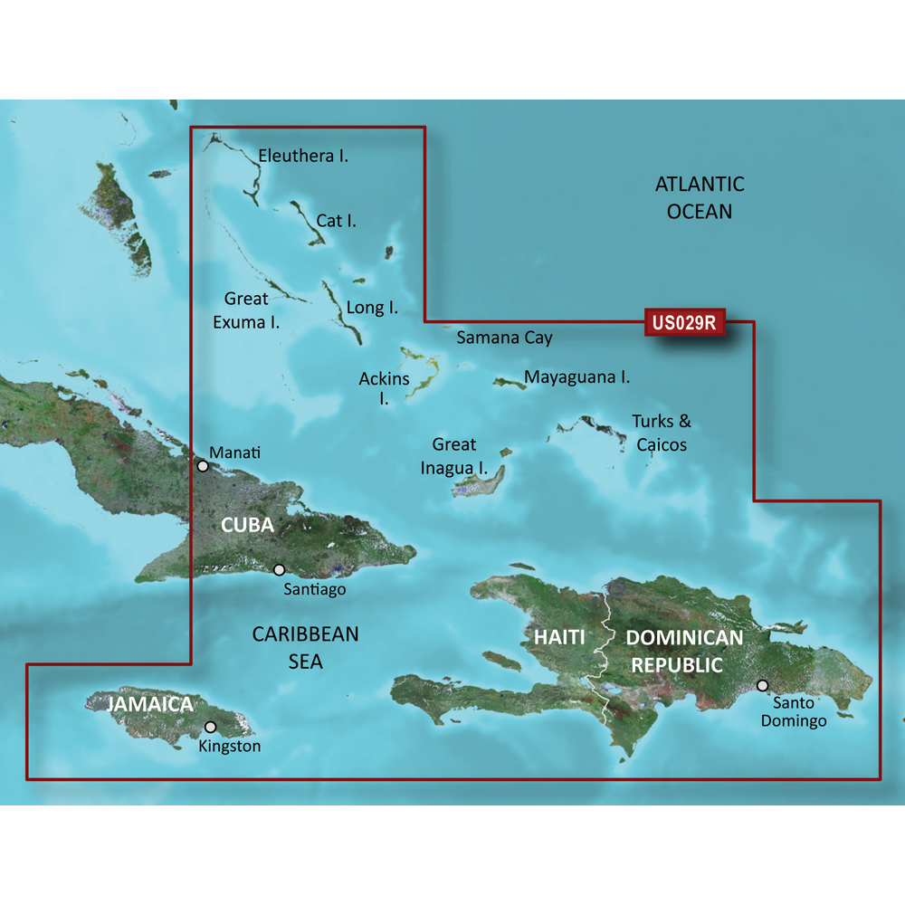 Garmin BlueChart® g3 Vision® HD - VUS029R - Southern Bahamas - microSD™/SD™
