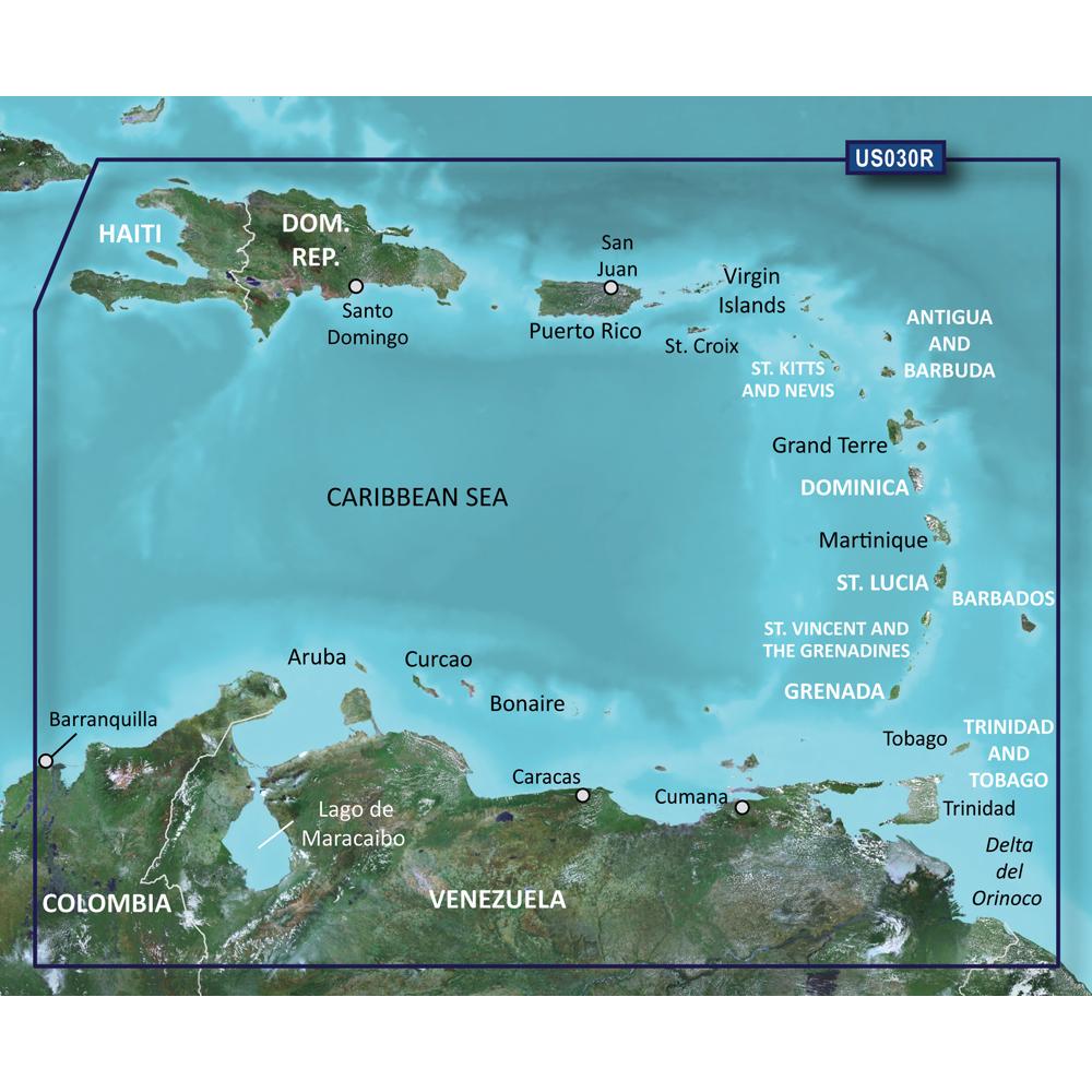 Garmin BlueChart® g2 Vision® HD - VUS030R - Southeast Caribbean - microSD™/SD™