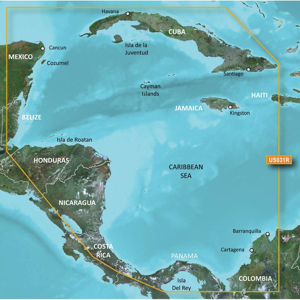 Garmin BlueChart® g2 HD - HXUS031R - Southwest Caribbean - microSD™/SD™
