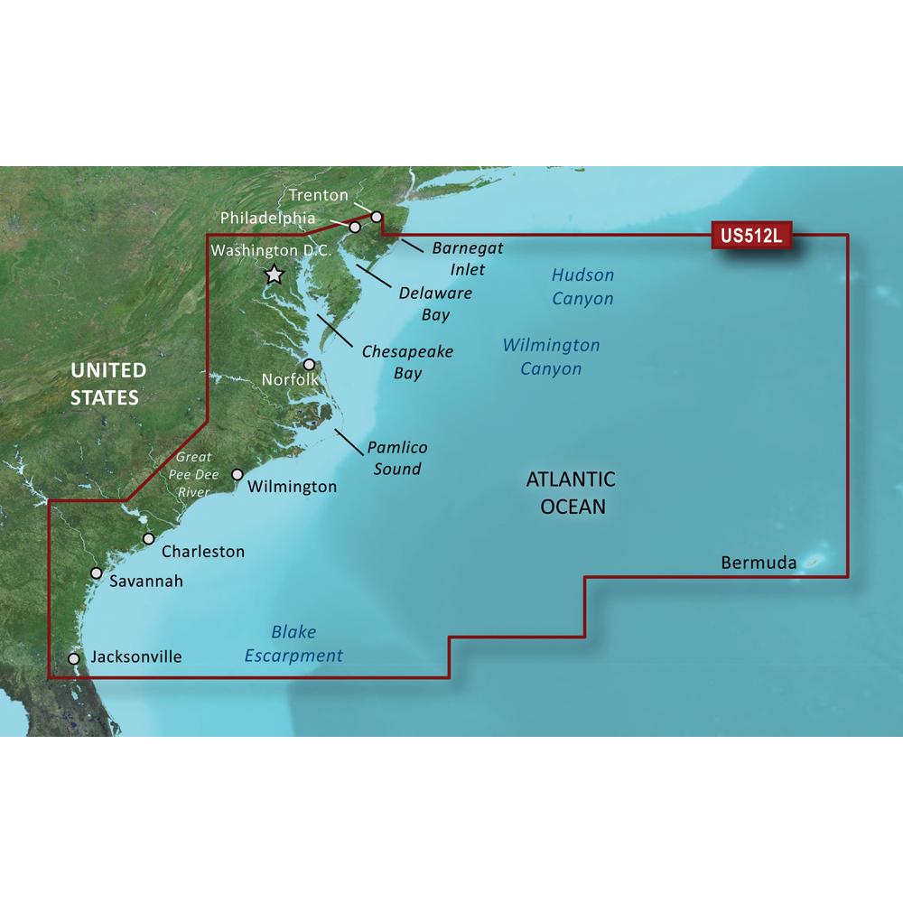 Garmin BlueChart® g3 Vision® HD - VUS512L - Mid-Atlantic - microSD™/SD™