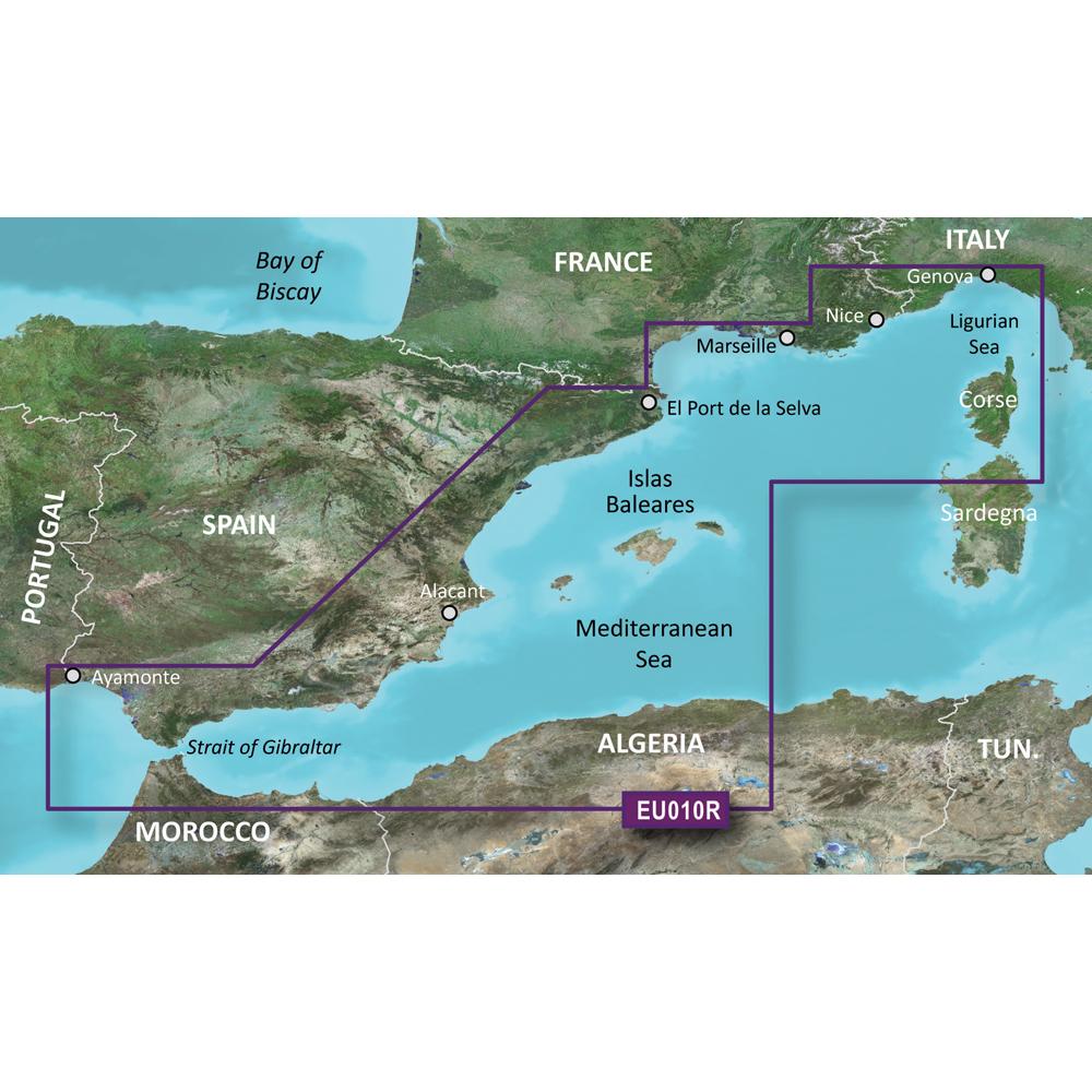 Garmin BlueChart® g3 Vision® HD - VEU010R - Spain, Mediterranean Coast - microSD™/SD™