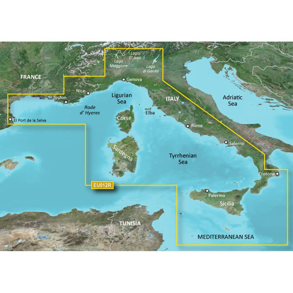 Garmin BlueChart® g3 Vision® HD - VEU012R - Italy, West Coast - microSD™/SD™