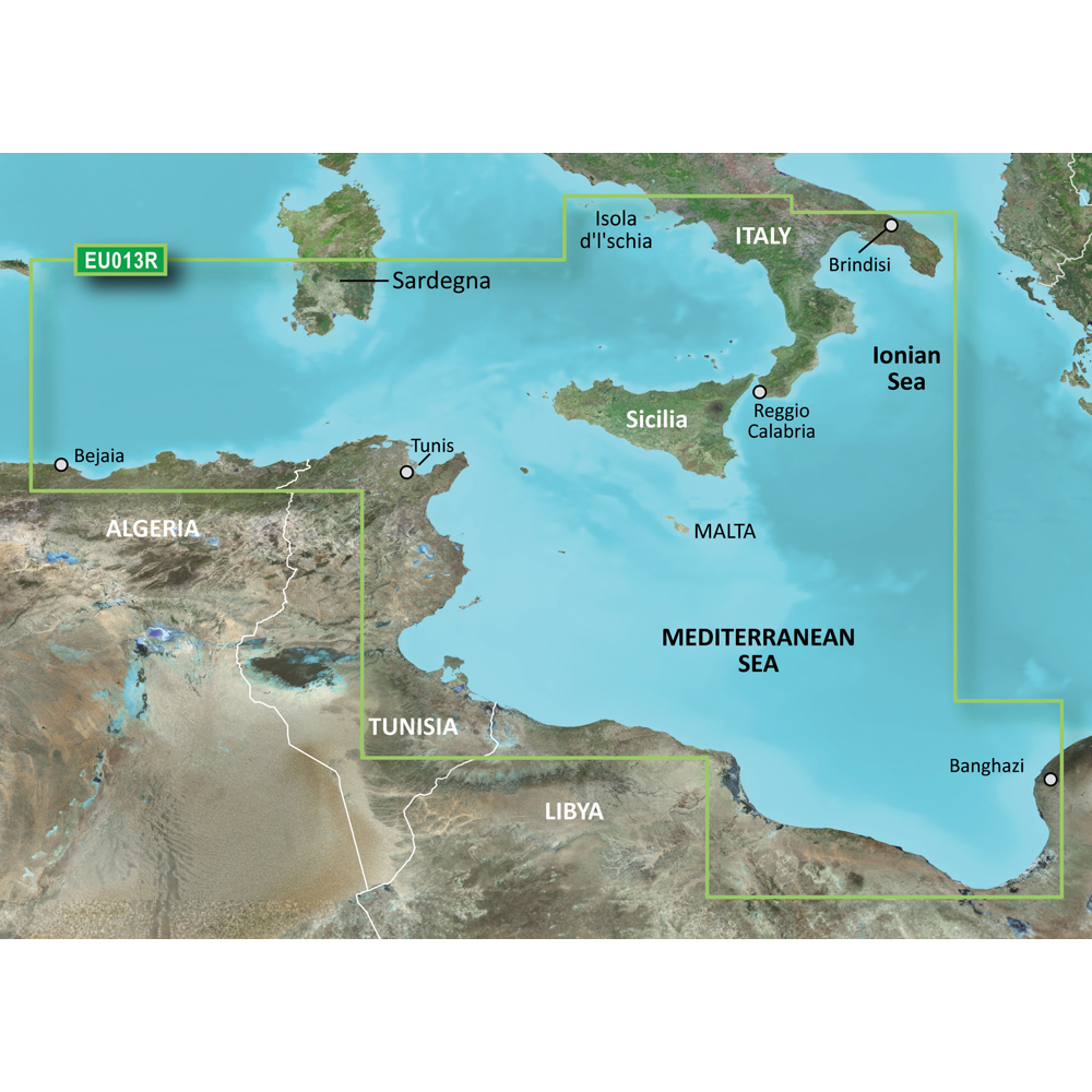 Garmin BlueChart® g3 Vision® HD - VEU013R - Italy Southwest & Tunisia - microSD™/SD™