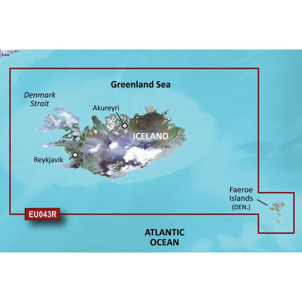 Garmin BlueChart® g3 Vision® HD - VEU043R - Iceland & Faeroe Islands - microSD™/SD™