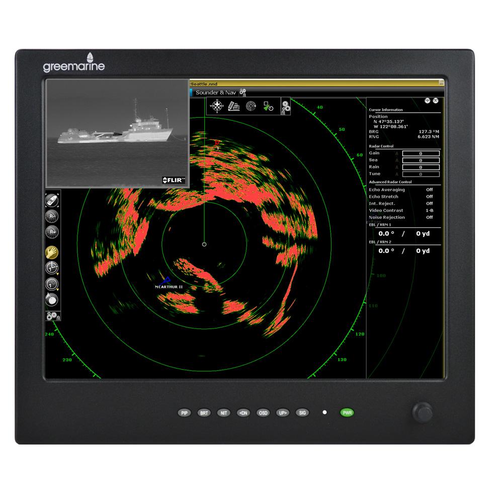 "Green Marine AWM Series II IP65 Sunlight Readable Marine Display - 15"""
