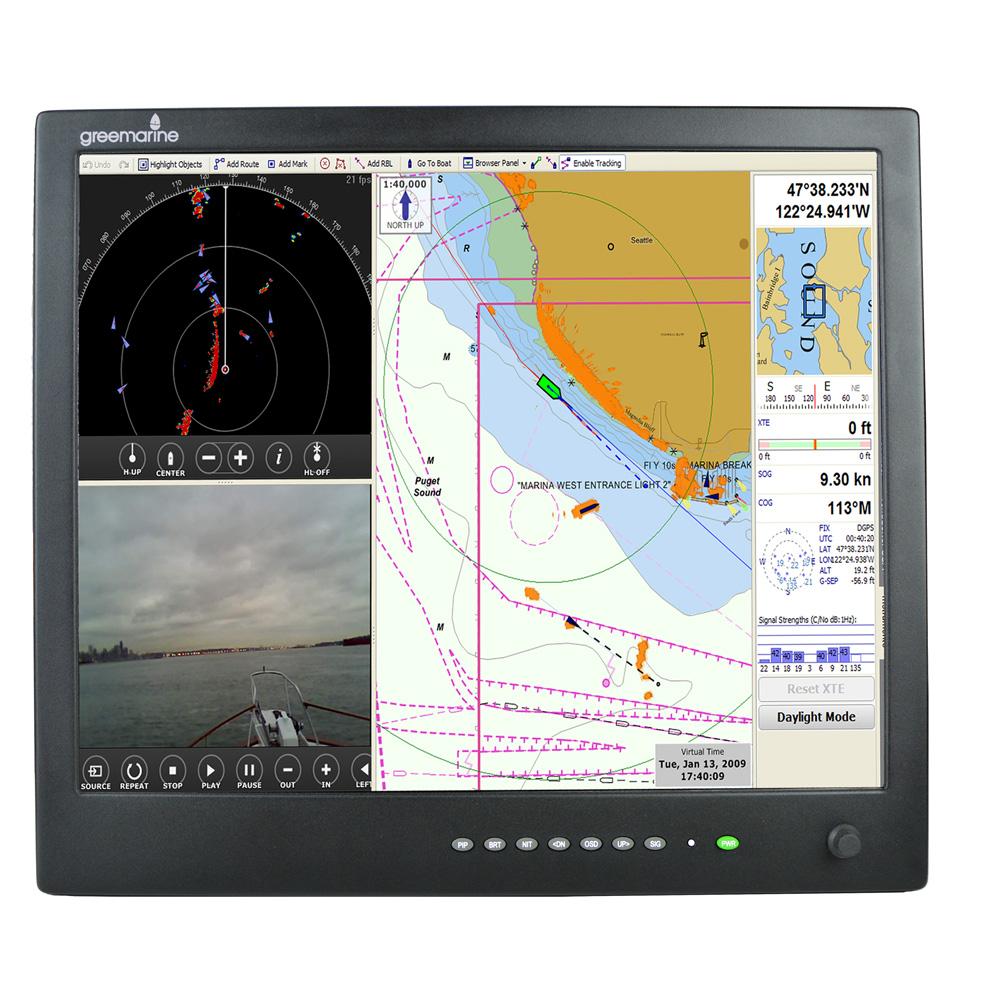 "Green Marine AWM Series II IP65 Sunlight Readable Marine Display - 17"""