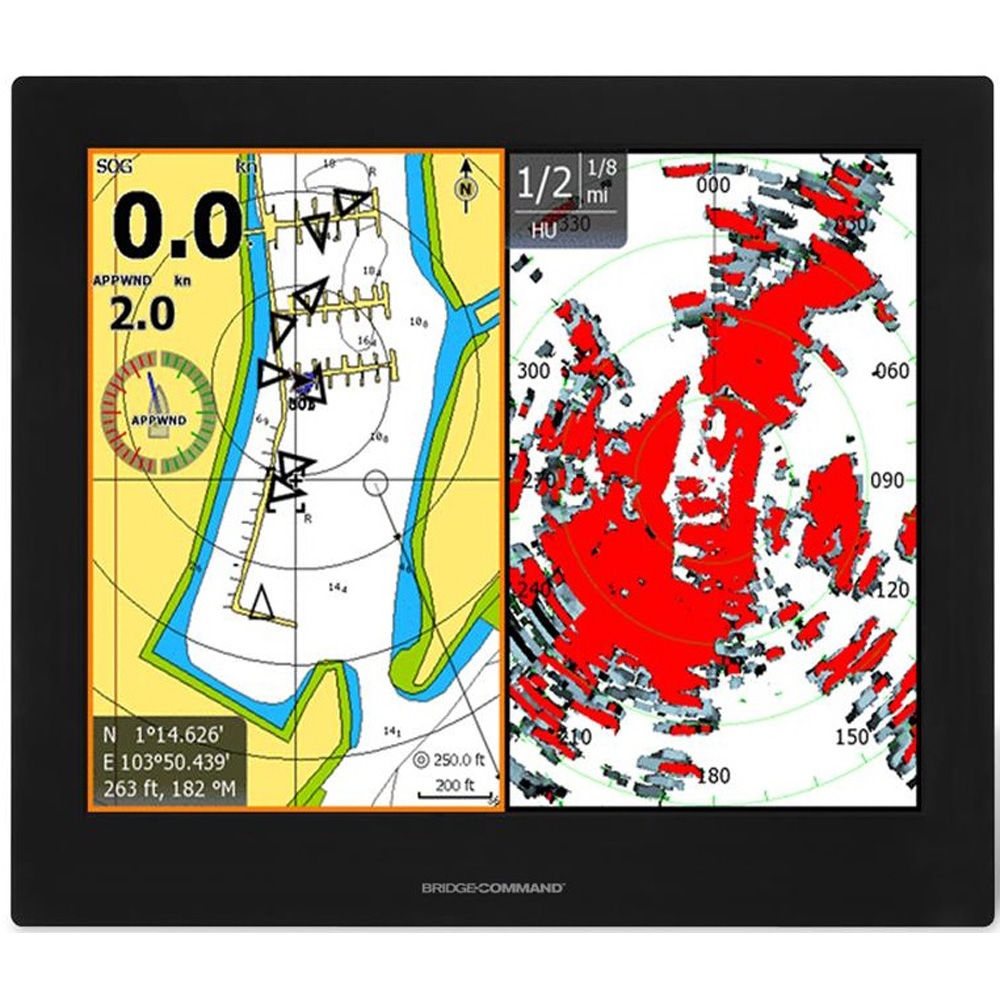 "Green Marine BridgeCommand™ Multi-Touch Glass Bridge IP65 Sunlight Readable Marine Display - 19"""