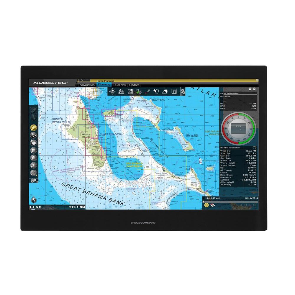 "Green Marine BridgeCommand™ Multi-Touch Glass Bridge IP65 Sunlight Readable Marine Display - 24"""