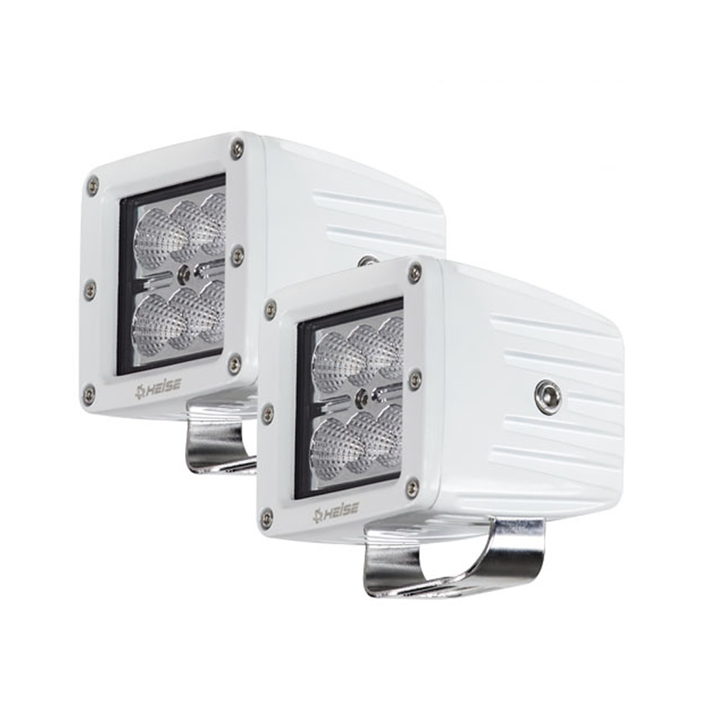 "HEISE 6 LED Marine Cube Light w/Harness - 3"" - 2 Pack"