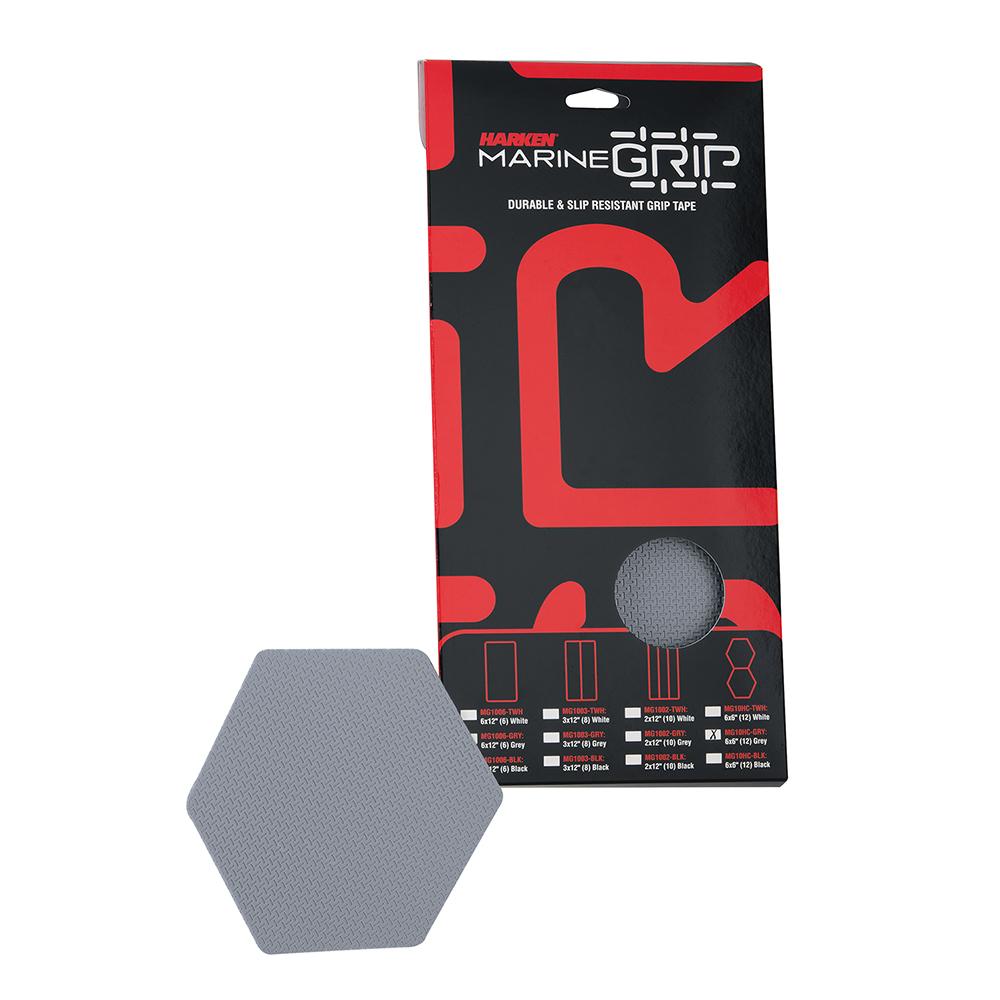 Harken Marine Grip Tape - Honeycomb - Grey - 12 Pieces