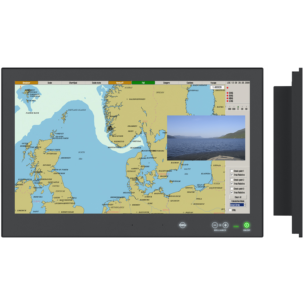 """Hatteland Series X - Generation 2 (G2) 24"""" Multi-Power Touch Screen Display - AC/DC 24V"""