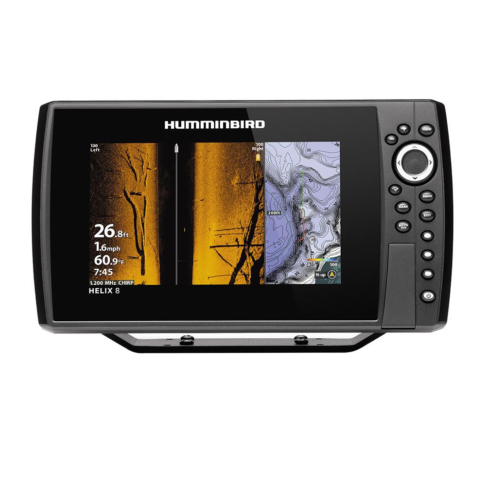Humminbird HELIX® 8 CHIRP MEGA SI Fishfinder/GPS Combo G3N w/Transom Mount Transducer