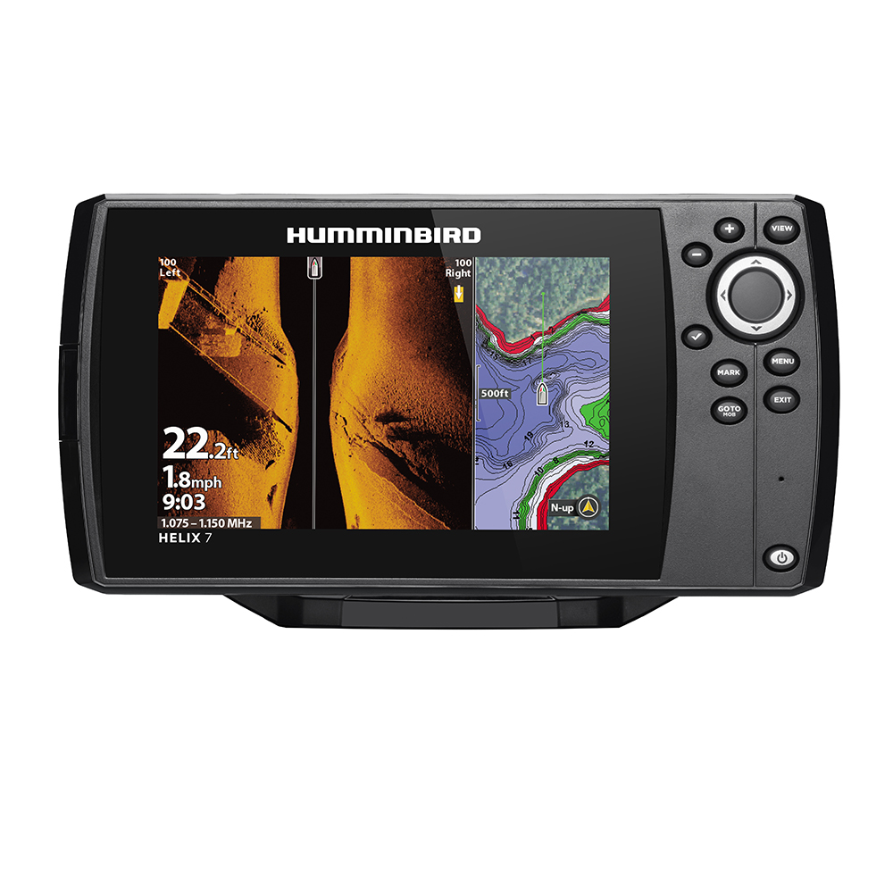 Humminbird HELIX® 7 CHIRP MEGA SI Fishfinder/GPS Combo G3 w/Navionics+ & Transom Mount Transducer