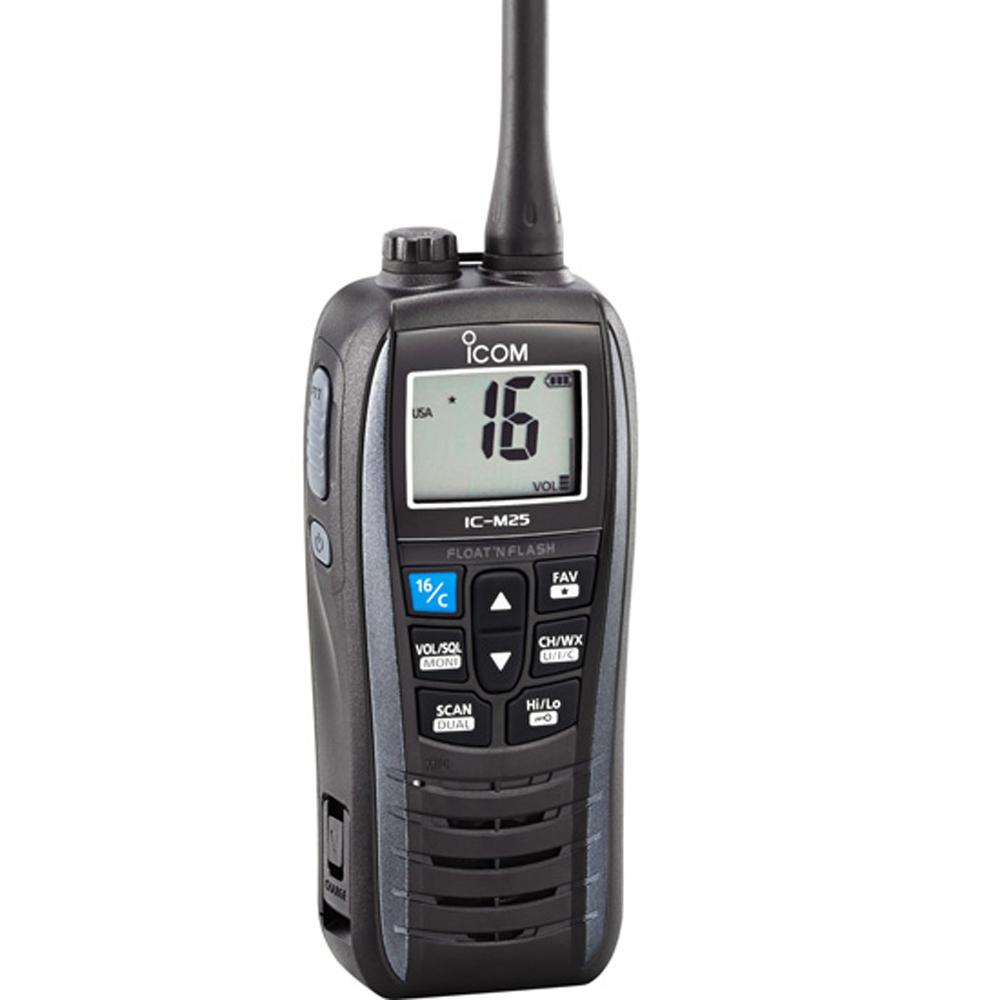 Icom M25 Floating Handheld VHF Marine Radio - Metallic Gray