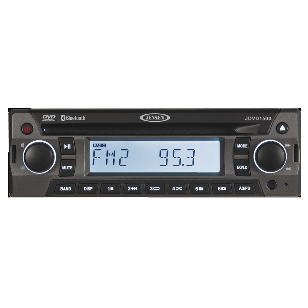 JENSEN JDVD1500 AM/FM/CD/DVD/Bluetooth Stereo