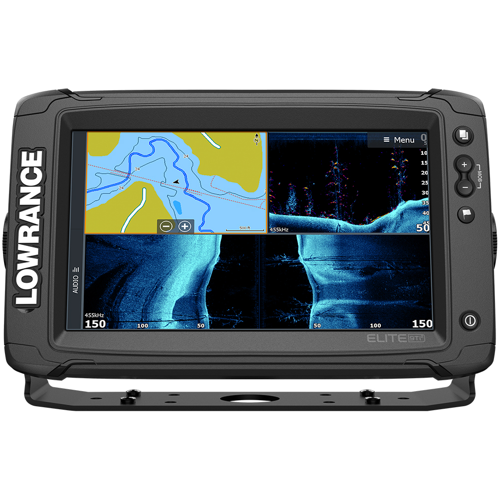 Lowrance Elite-9 Ti² Combo w/Active Imaging 3-in-1 Transom Mount Transducer & US Inland Chart