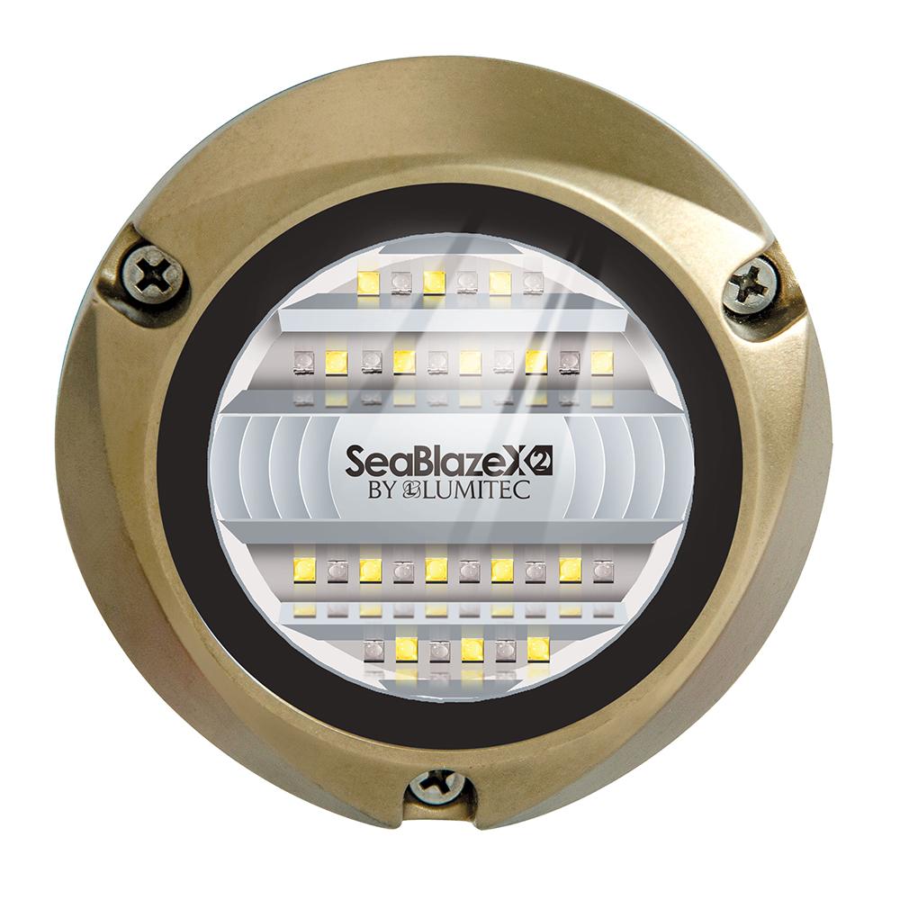 Lumitec SeaBlazeX2 LED Underwater Light - Dual Color - White/Blue