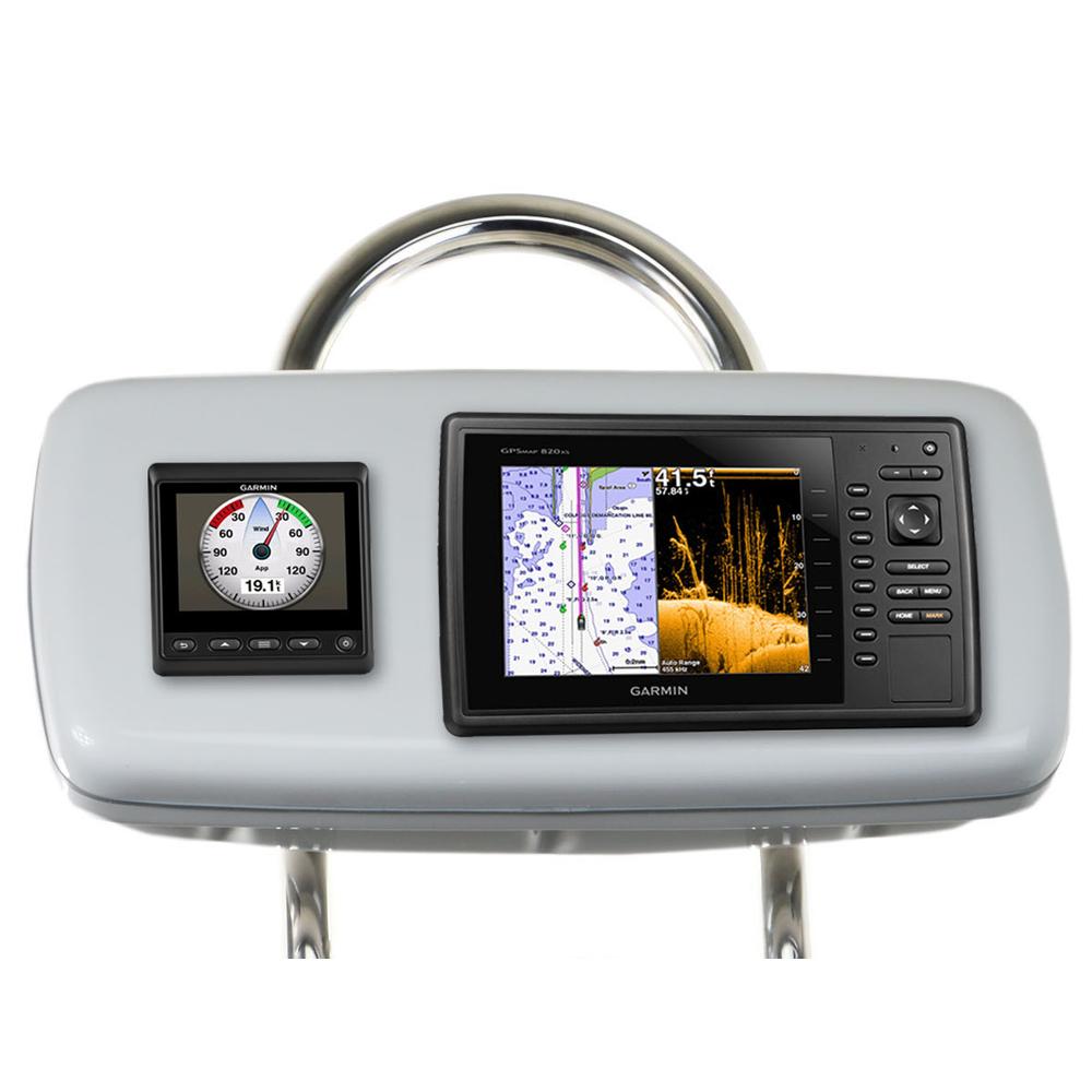 """NavPod GP1048 SystemPod Pre-Cut f/Garmin 820/820xs/840xs & 1 Instrument  f/9.5"""" Wide Guard"""