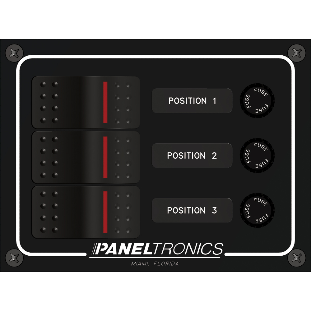 Paneltronics Waterproof Panel - DC 3-Position Illuminated