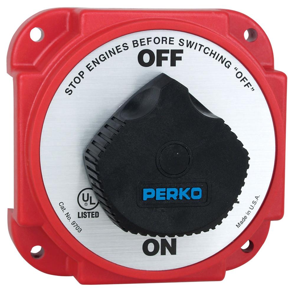 Perko 9703DP Heavy Duty Battery Disconnect Switch w/ Alternator Field Disconnect