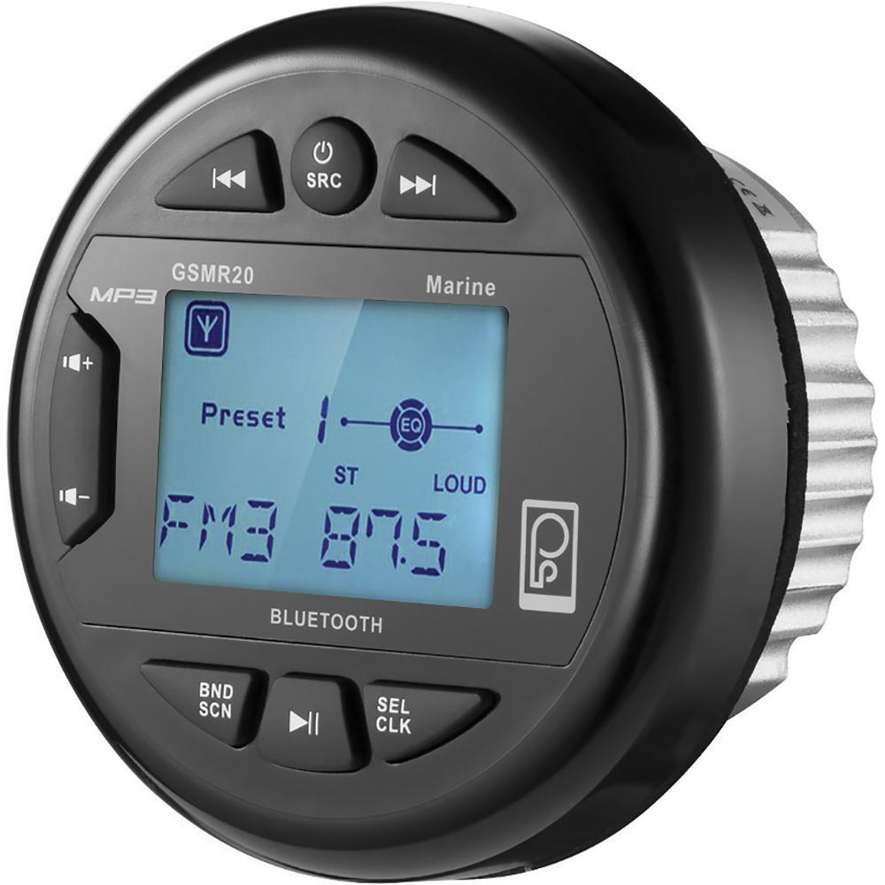 Poly-Planar GSMR20 AM/FM Bluetooth Gauge Series Marine Radio