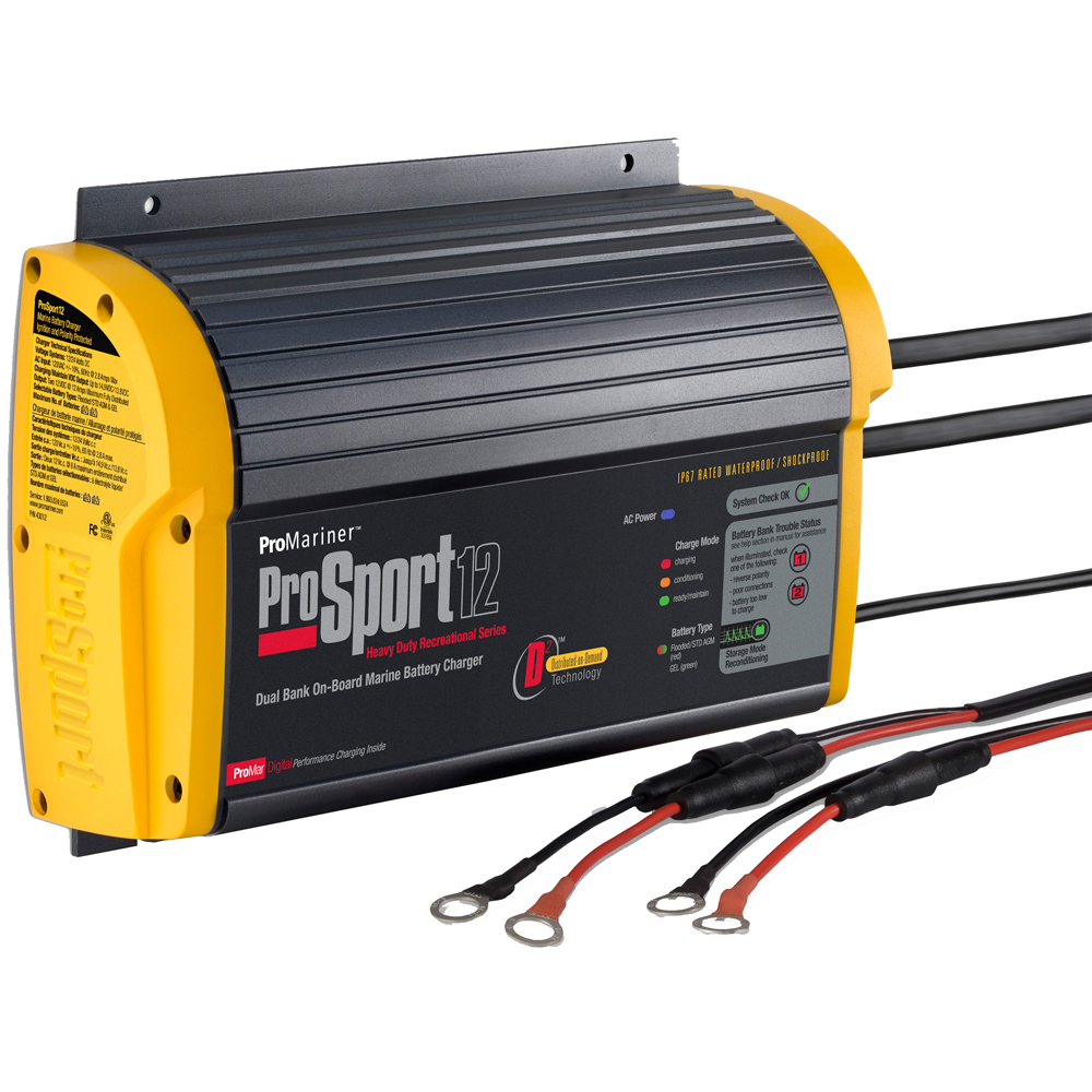 ProMariner ProSport 12 Gen 3 Heavy Duty On-Board Marine Battery Charger - 12 Amp - 2 Bank